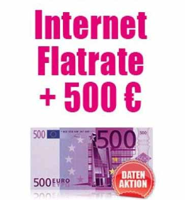 T-Mobile D1 Internet-Flat 5 GB + Surf-Stick + 500 Euro Auszahlung
