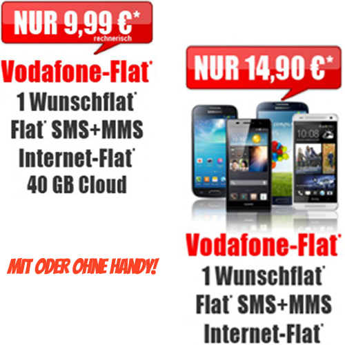Vodafone Flat 4 You Aktion