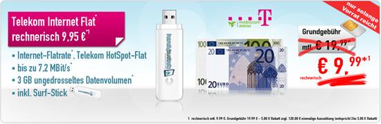 Internet Flatrate 3GB D1 Netz nur 9.99€
