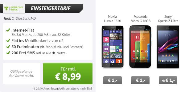 Sony Xperia Z Ultra + o2 Blue Basic 8.99€ mtl
