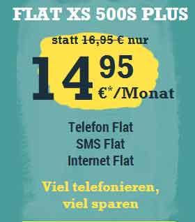 AllNet Flatrate Internet Flat SMS Flat 14.95€ mtl