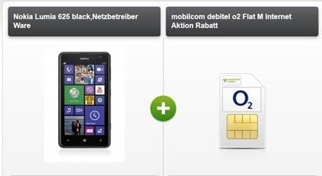 Nokia 625 + o2 Flat + Festnetz Flat + Internet 4.95€ mtl