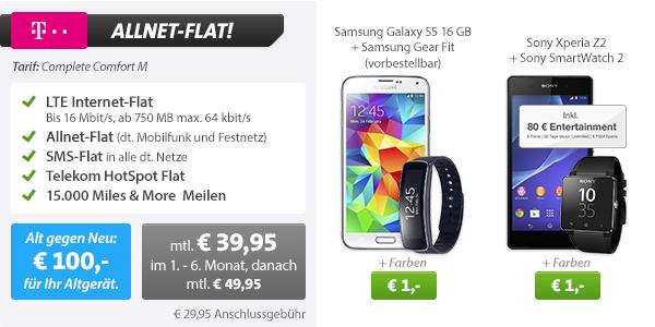 Samsung Gear Fit R350 + Galaxy S5 + Telekom Allnet Flat