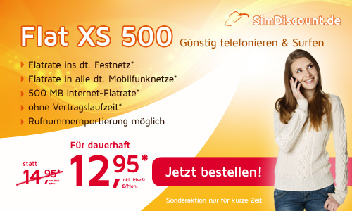 Handy Weekend Deal: AllNet Flat 12.95€ mtl