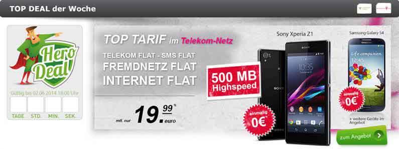 Telekom Flat Smart Classic + Galaxy S4 19.99€ mtl