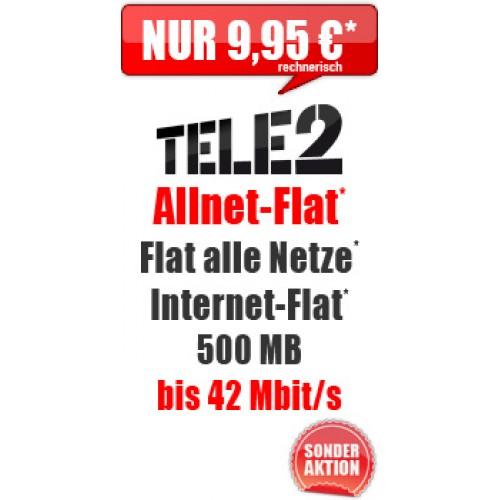Tele2 Allnet Flat Smart LTE nur 9.95€ mtl