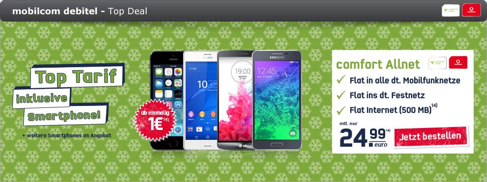 Samsung Galaxy Alpha + Vodafone Allnet Special 24.99€ mtl