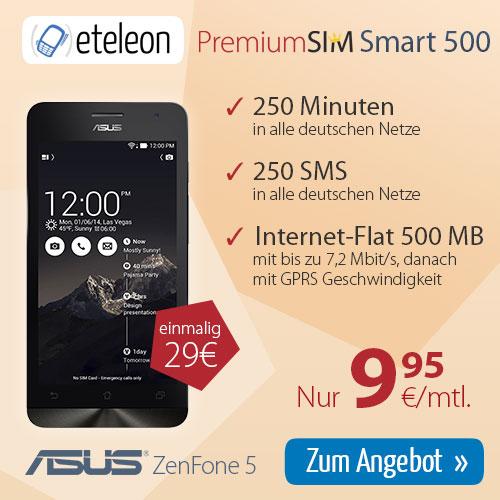 ASUS Zenfone 5 + 250Min/SMS + Internet Flat 9.95€ mtl
