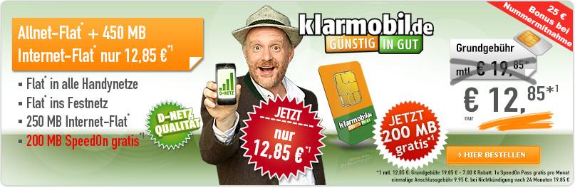D1 AllNet Flat + Handy + Internet nur 12.85€ mtl