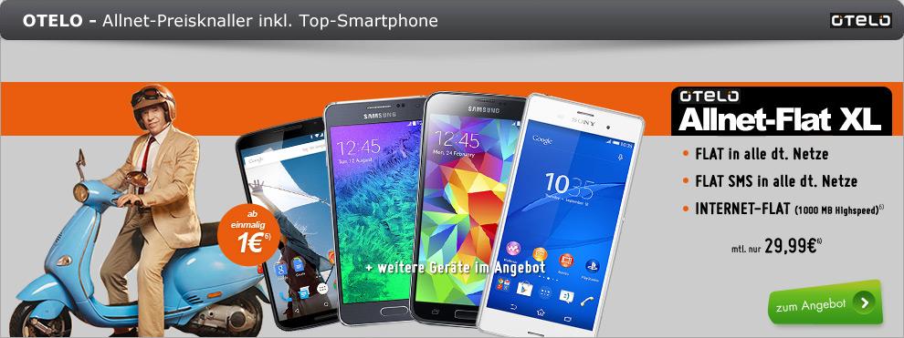 Sony Xperia Z3 + AllNet + 1GB nur 29.99€ mtl