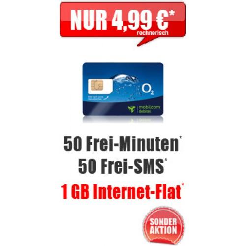Smart Surf 1 GB mit 50 Min/SMS nur 4.99€ mtl