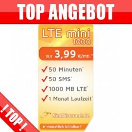 50 Minuten + 50 SMS + 1 GB LTE - ohne Laufzeit- nur 3.99€
