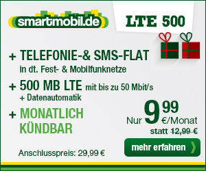 AllNet Flatrate + SMS Flat +Internet Flatrate LTE -ohne Laufzeit- nur 9.99€ mtl