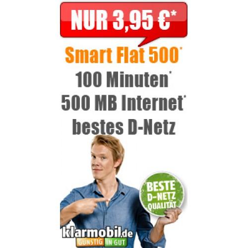 Klarmobil Smartphone Flat 500 - nur 3,95€ mtl.