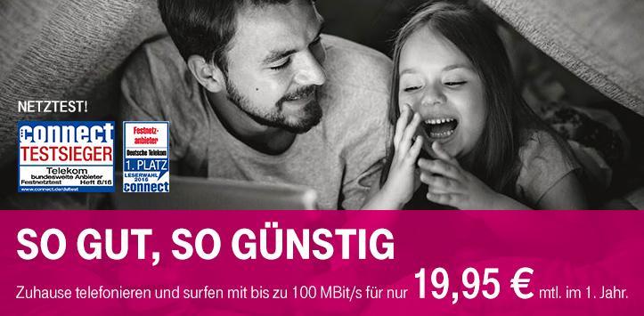 Telekom Magenta Zuhause S/M/L im ersten Jahr nur 17,96€ mtl.