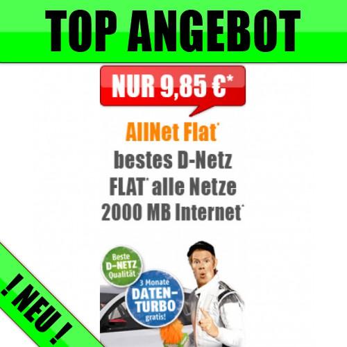 Allnet + 1GB + TELEKOM Netz nur 9,85€ mtl. TOP Deal!