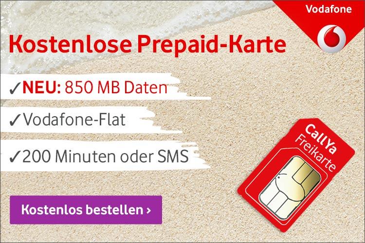 Kostenlose Prepaid Karte Vodafone CallYa