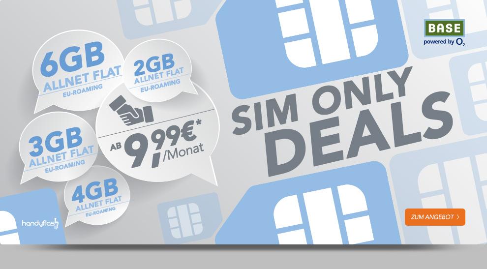 BASE Sim Only Deals ab 9,99€ mtl.