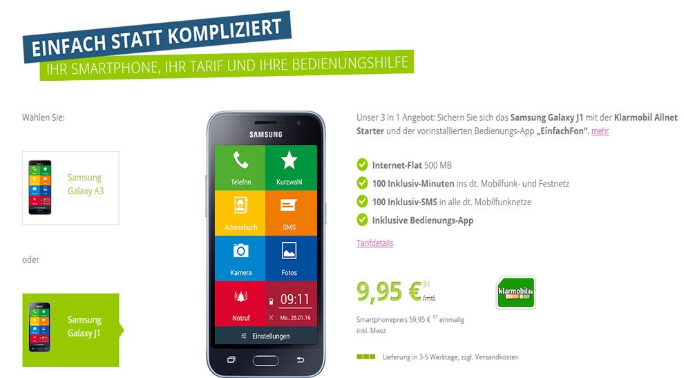 EinfachFon - Das Seniorenhandy Angebot nur 9,95€ mtl.