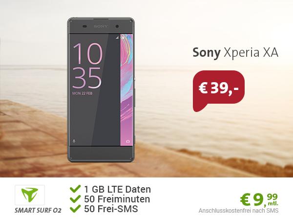 Sony Xperia XA + 1GB LTE + 50Min/SMS nur 9,99€ mtl.