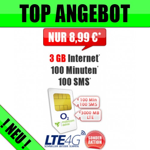 Smart Light 3 GB LTE 8,99€ mtl.