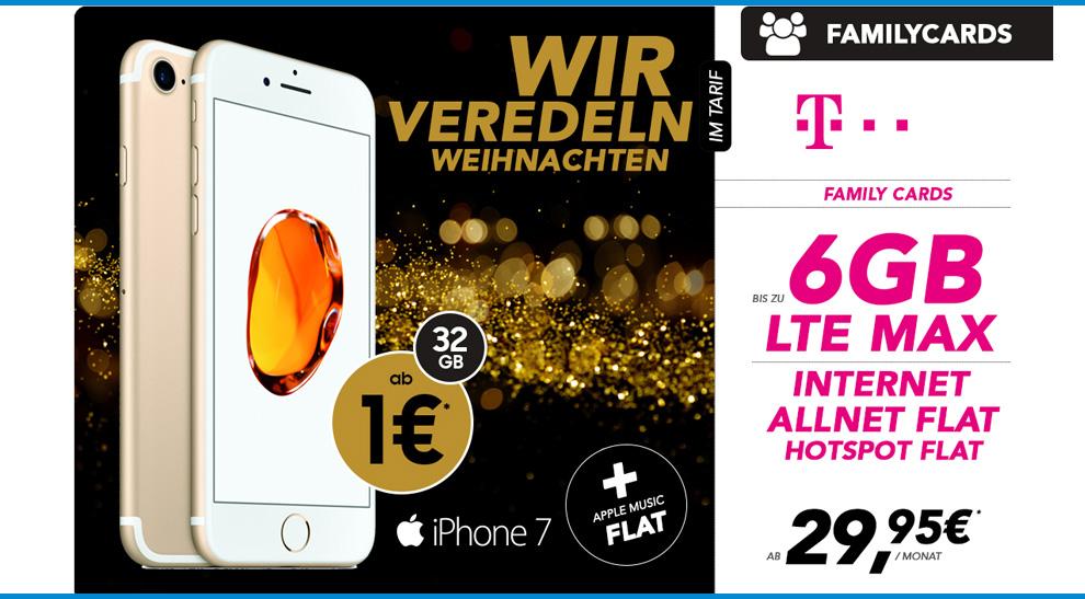 Telekom Family Card S Mit Iphone 7 F 252 R Nur 29 95 Mtl
