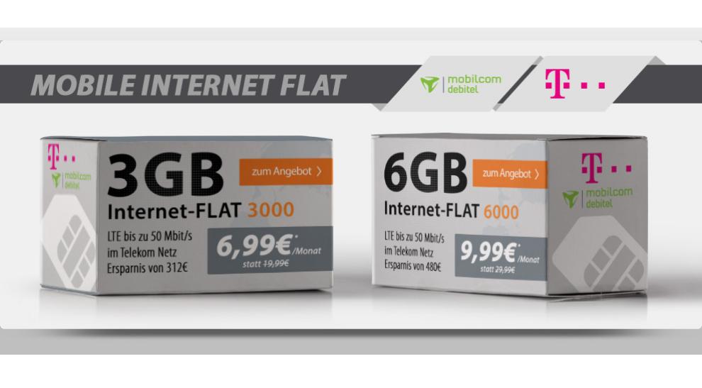 Telekom Internet-Flat 6.000 MB LTE nur 9,99€ mtl.