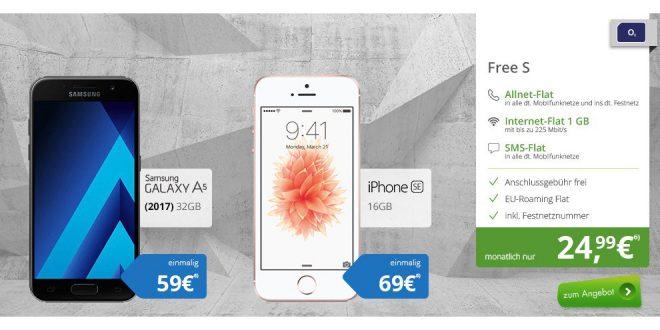 Samsung Galaxy A5 (2017) mit dem o2 Free S nur 24,99€ mtl.