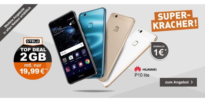 Huawei P10 Lite mit Allnet Flat und 2 GB nur 19,99€ mtl.