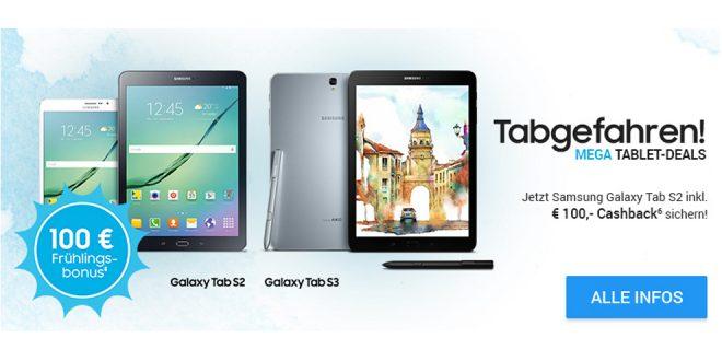 Samsung Galaxy Tab mit 2GB LTE und 100€ nur 19,99€ mtl.