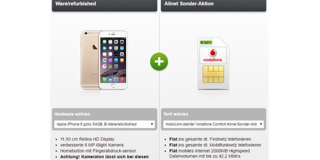 iPhone 6 64GB inkl. Allnet Flat 2GB nur 19,99€ mtl.