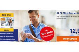 ALDI Talk-Prepaidkarte mit 10,-€ Amazon-Giutschein