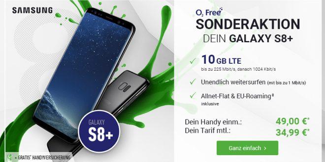 Galaxy S8+mit 10GB LTE und Allnet nur 34,99€ mtl.