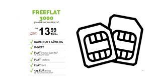 3 GB D-Netz mit Allnet und monatlich kündbar nur 13,99€ mtl.