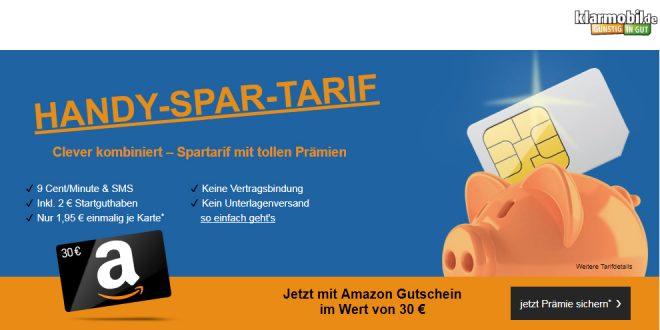 Spar-Tarif mit 30 Euro Amazon Gutschein
