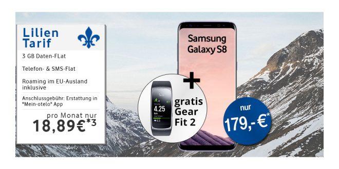 Galaxy S8 & Gear Fit2 mit 3GB Allnet nur 18,98€ mtl.