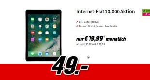 iPad Wi-Fi + Cellular mit 10 GB LTE Telekom nur 19,99€ mtl.