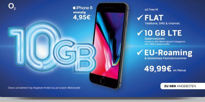iPhone 8 mit 10 GB LTE Allnet nur 49,99€ mtl.