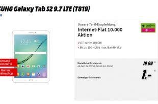 Galaxy Tab S2 9.7 mit 10 GB LTE Telekom nur 19,99€ mtl.