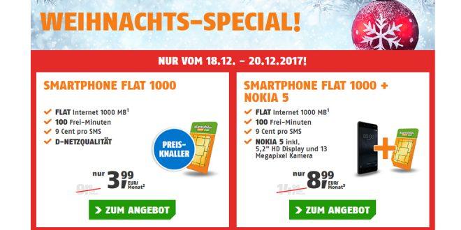 1 GB Internet mit 100 Minuten im Telekom Netz nur 3,99€ mtl.