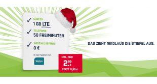 1 GB LTE mit 50 Min. und 50 SMS nur 2,99€ mtl.