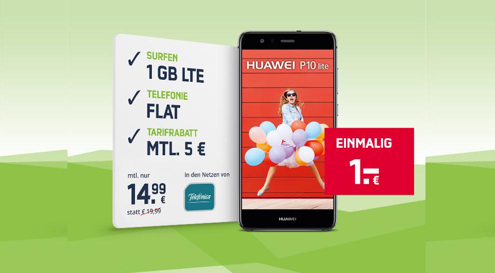 Huawei P10 Lite Mit 1gb Allnet Nur 14 99 Mtl Handytariftipp