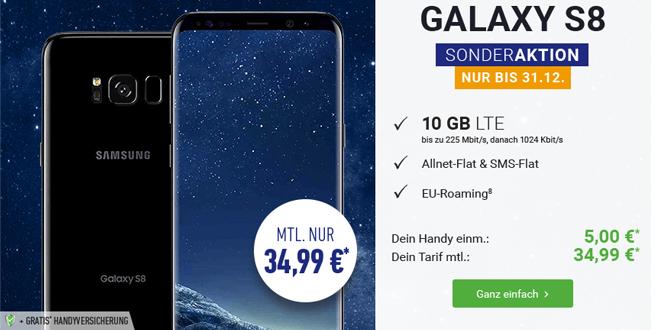 10GB LTE mit Allnet und dem Galaxy S8 nur 34,99€ mtl.