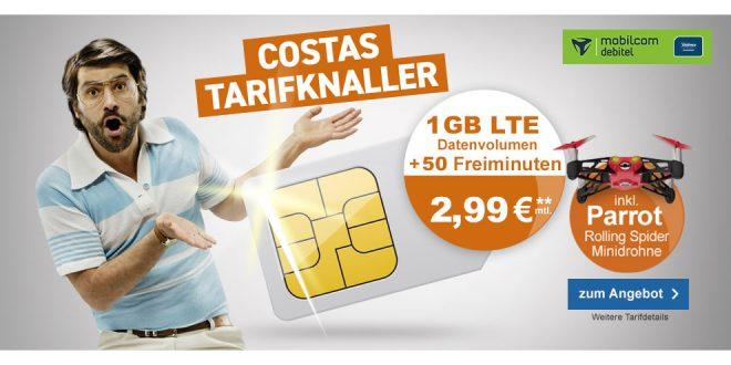 1 GB LTE mit 50 Min. und Minidrohne nur 2,99€ mtl.