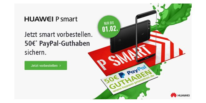 Huawei P Smart mit 4GB LTE und Allnet nur 19,99€ mtl.