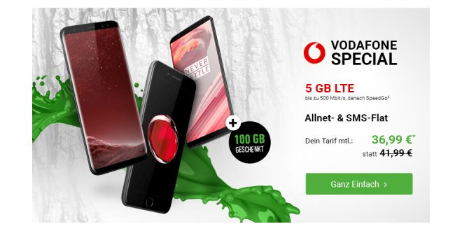 Galaxy S8+ mit 5 GB LTE und Allnet nur 36,99€ mtl.