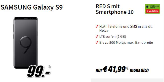 Galaxy S9 mit 2 GB LTE und Allnet nur 41,99€ mtl