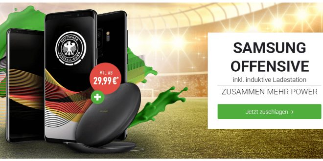 Galaxy S9+mit 20 GB LTE nur 34,99€ mtl.