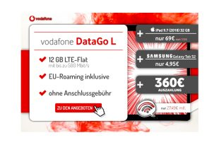12 GB LTE mit iPad oder 360€ Auszahlung nur 27,49€ mtl.