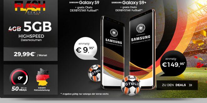 Galaxy S9 mit 5 GB LTE im Vodafone Netz nur 29,99€ mtl.
